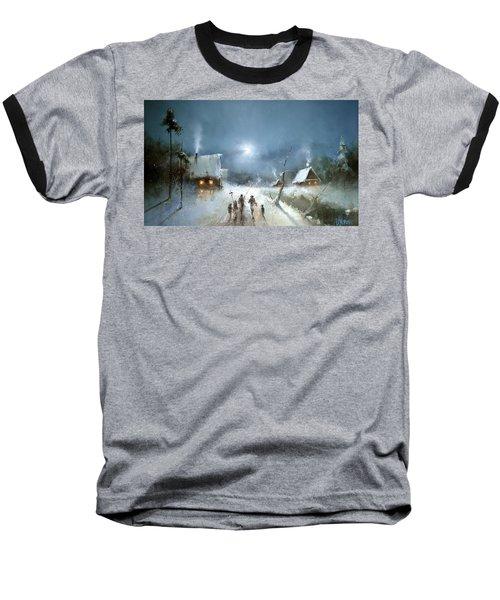 Christmas Night Baseball T-Shirt