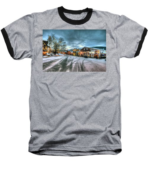 Christmas On Main Street Baseball T-Shirt