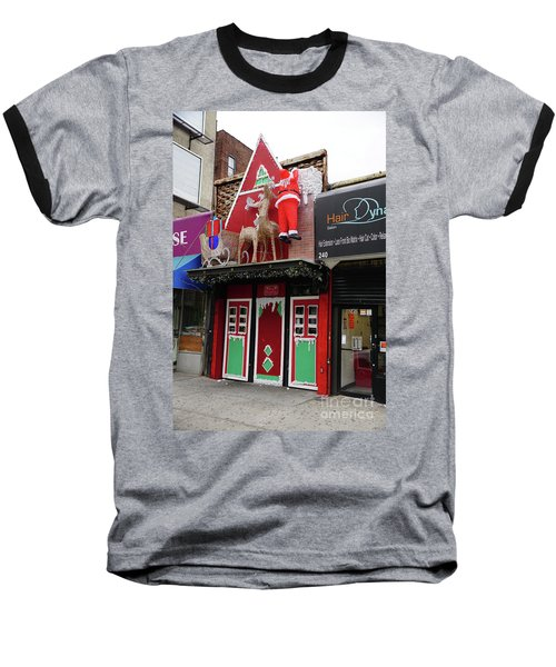 Baseball T-Shirt featuring the photograph Christmas On Sherman Avenue  by Cole Thompson