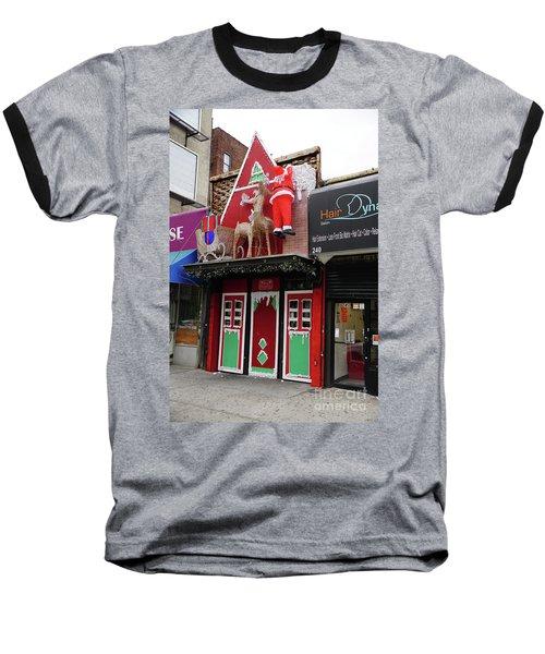 Christmas On Sherman Avenue  Baseball T-Shirt