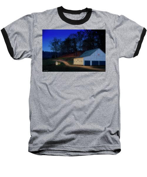 Christmas On The Farm Baseball T-Shirt by Glenn Gemmell