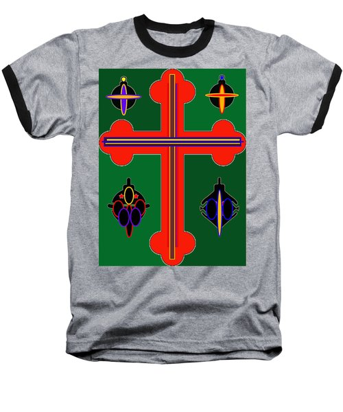 Christmas Ornate 3 Baseball T-Shirt