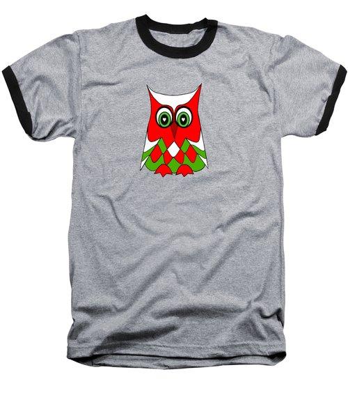 Christmas Owl Baseball T-Shirt