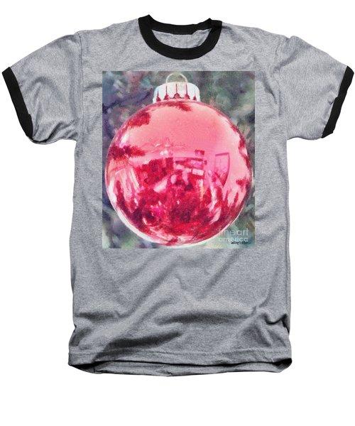 Christmas Reflected Baseball T-Shirt