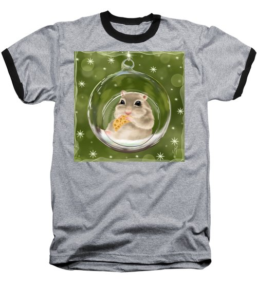 Baseball T-Shirt featuring the painting Christmas Relax by Veronica Minozzi