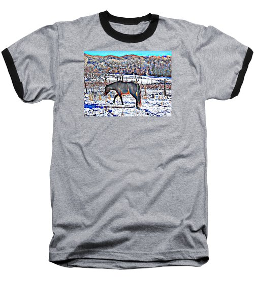 Christmas Roan El Valle II Baseball T-Shirt by Anastasia Savage Ealy