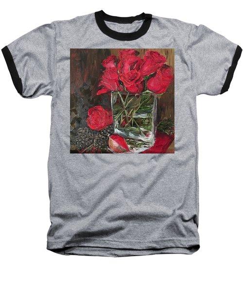 Christmas Roses Baseball T-Shirt