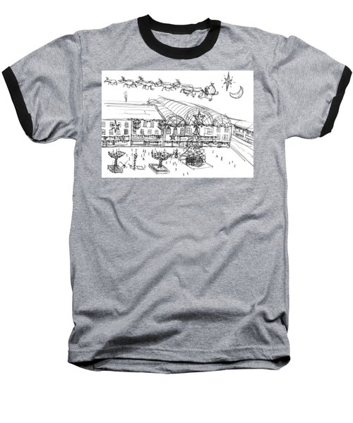 Christmas Shopping Baseball T-Shirt by Artists With Autism Inc