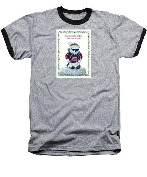 Christmas Skier Baseball T-Shirt