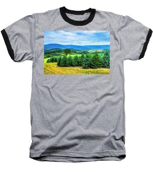 Christmas Spirit Baseball T-Shirt by Dale R Carlson