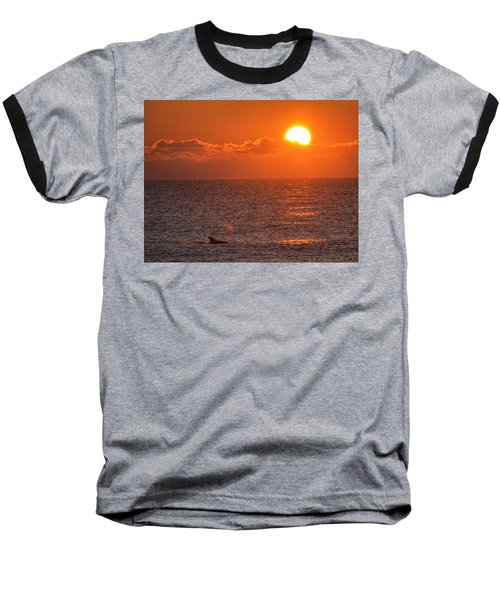 Christmas Sunrise On The Atlantic Ocean Baseball T-Shirt by Sumoflam Photography