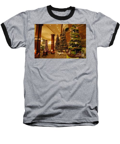 Baseball T-Shirt featuring the photograph Christmas Tree by Eric Liller