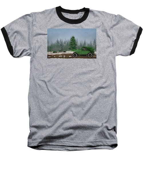 Christmas Tree Hunters Baseball T-Shirt by Ken Morris