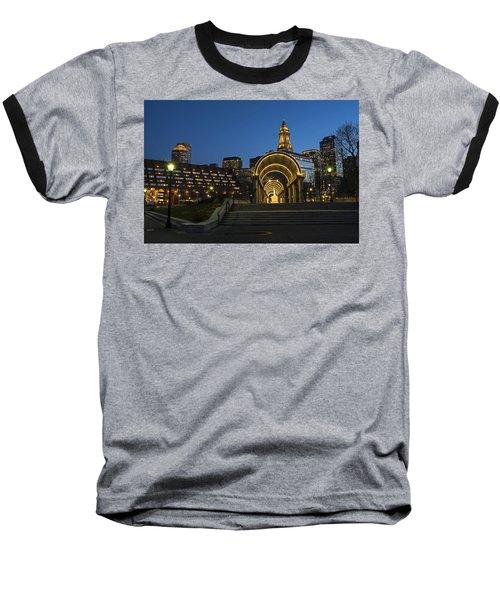 Christopher Columbus Park Boston Ma Trellis Custom House Baseball T-Shirt