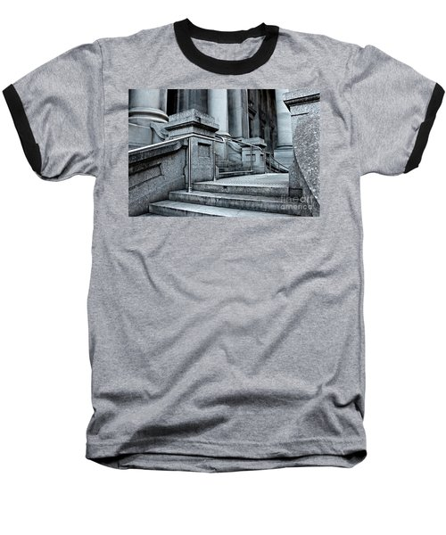 Baseball T-Shirt featuring the photograph Chrome Balustrade by Stephen Mitchell
