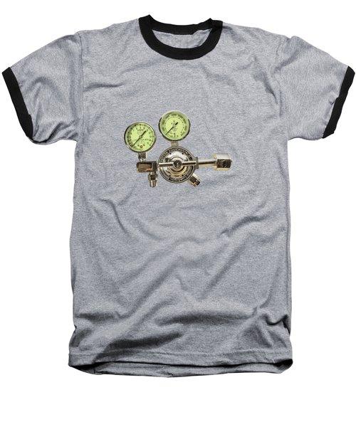 Chrome Regulator Gauges Baseball T-Shirt by YoPedro