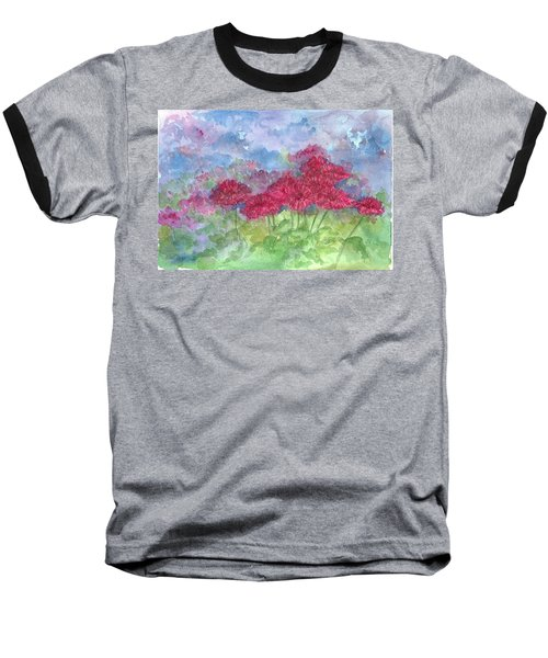 Baseball T-Shirt featuring the painting Chrysanthemums by Cathie Richardson