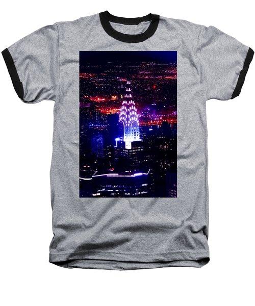 Chrysler Building At Night Baseball T-Shirt