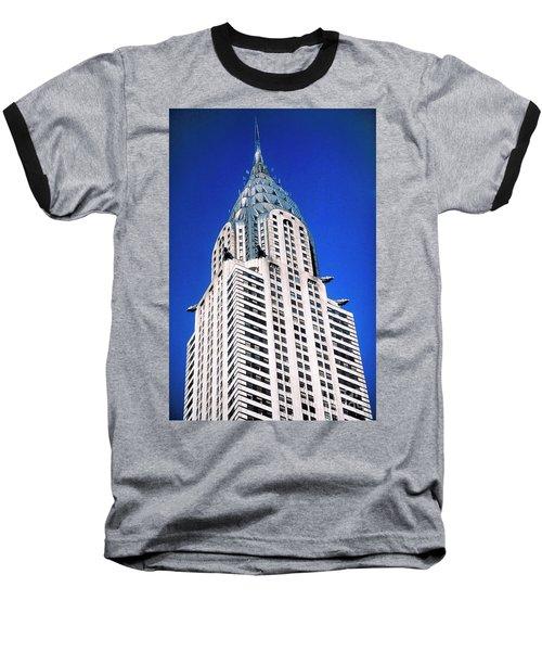 Chrysler Building Baseball T-Shirt