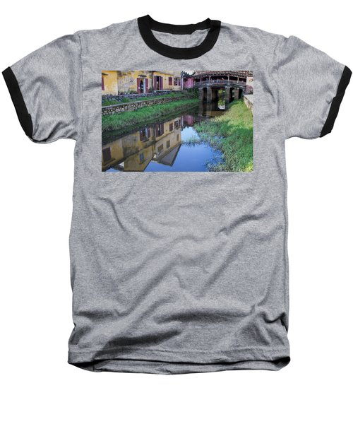 Baseball T-Shirt featuring the photograph Chua Cau Reflection by Hitendra SINKAR