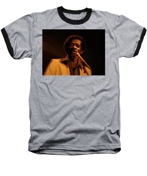 Chuck Berry Gold Baseball T-Shirt by Paul Meijering