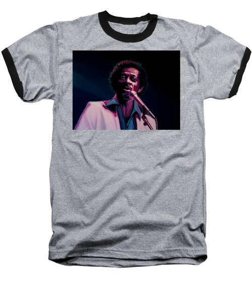 Chuck Berry Baseball T-Shirt by Paul Meijering