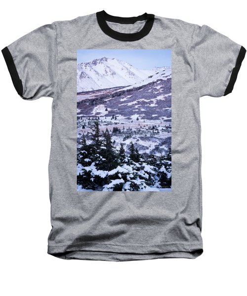 Chugach In Alpenglow Baseball T-Shirt