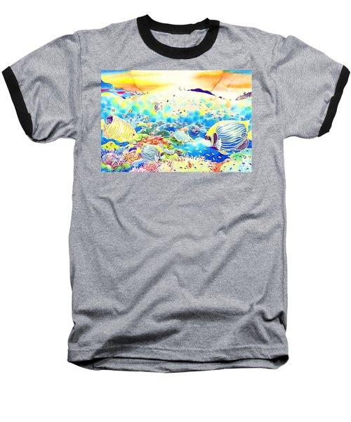 Baseball T-Shirt featuring the painting Churaumi Kerama by Hisayo Ohta