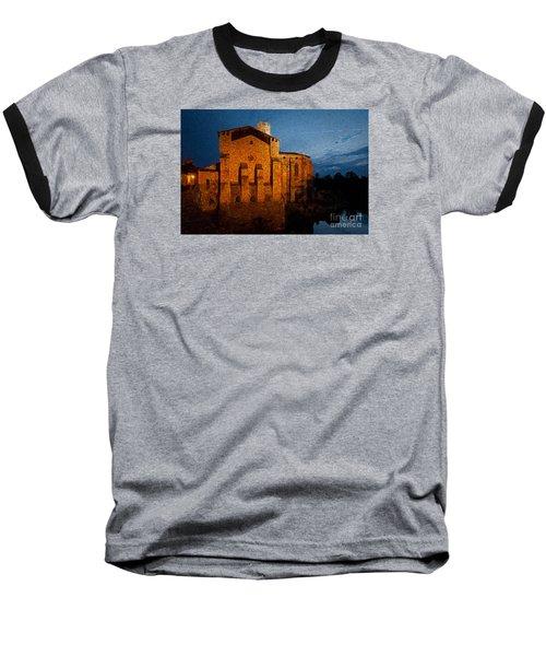Baseball T-Shirt featuring the photograph Church 1 by Jean Bernard Roussilhe