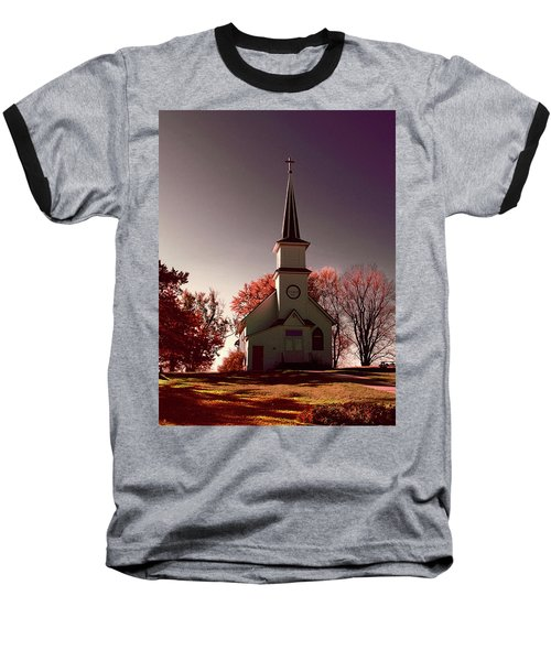Church At Sunset Baseball T-Shirt