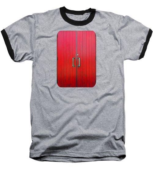 Church Door Baseball T-Shirt by Ethna Gillespie