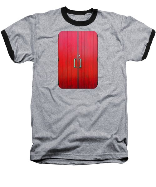 Baseball T-Shirt featuring the photograph Church Door by Ethna Gillespie