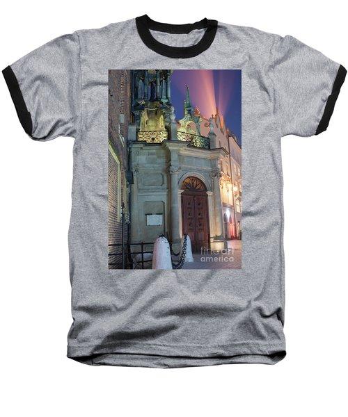 Baseball T-Shirt featuring the photograph Church Door by Juli Scalzi