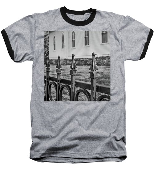 Baseball T-Shirt featuring the photograph Church Fence by James Woody