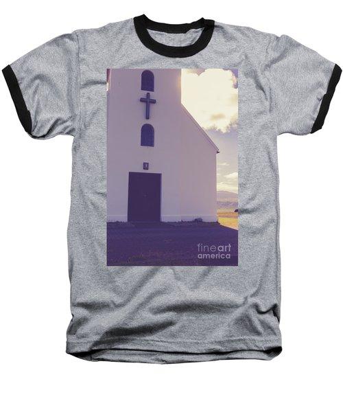 Baseball T-Shirt featuring the photograph Church Iceland by Edward Fielding