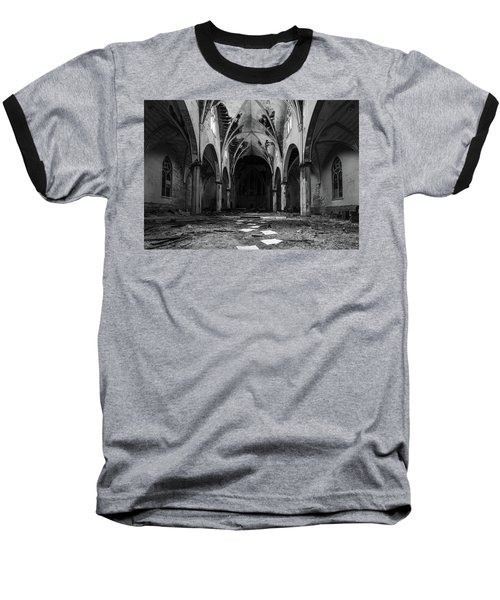 Church In Black And White Baseball T-Shirt