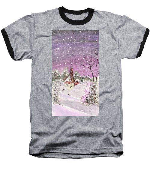Church In The Snow Baseball T-Shirt