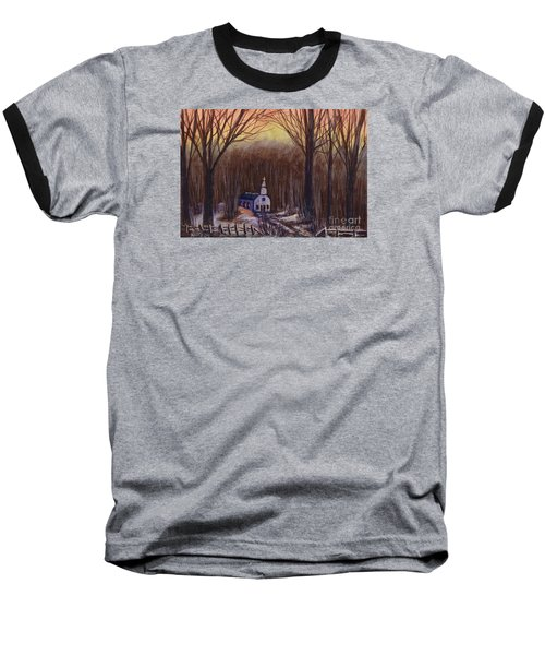 Church In The Woods  Baseball T-Shirt