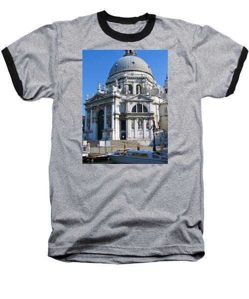 Church In Venice Baseball T-Shirt by Lisa Boyd
