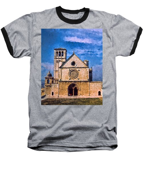Baseball T-Shirt featuring the photograph Church Of Assisi by Trey Foerster