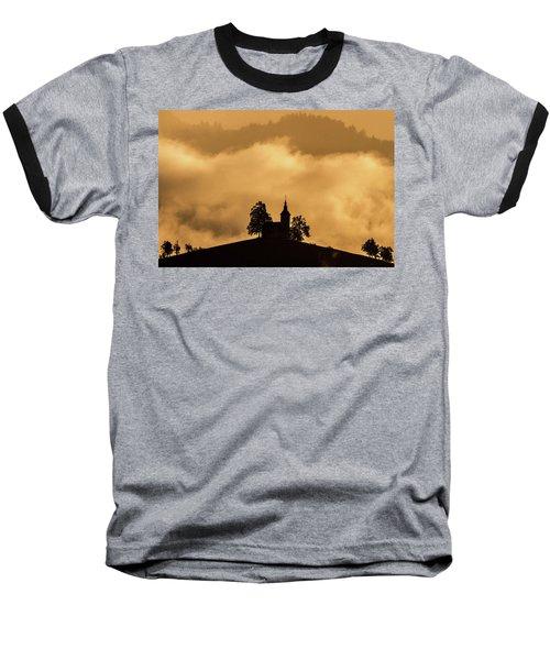 Baseball T-Shirt featuring the photograph Church Of St. Thomas #2 - Slovenia by Stuart Litoff