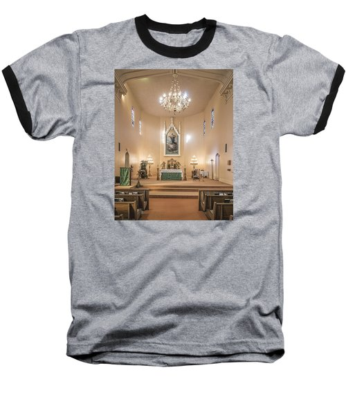 Baseball T-Shirt featuring the photograph Church Of The Assumption Of The Blessed Virgin Altar by Andy Crawford