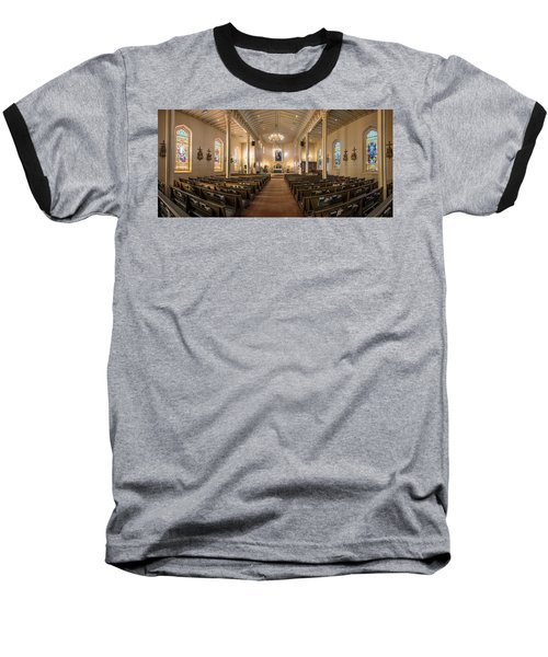 Baseball T-Shirt featuring the photograph Church Of The Assumption Of The Blessed Virgin Pano 2 by Andy Crawford