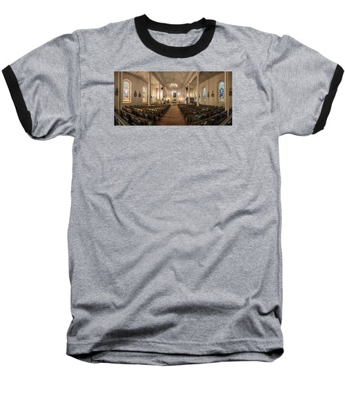 Baseball T-Shirt featuring the photograph Church Of The Assumption Of The Blessed Virgin Pano by Andy Crawford