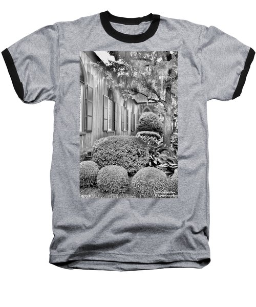 Church Of The Cross Bluffton Sc Black And White Baseball T-Shirt