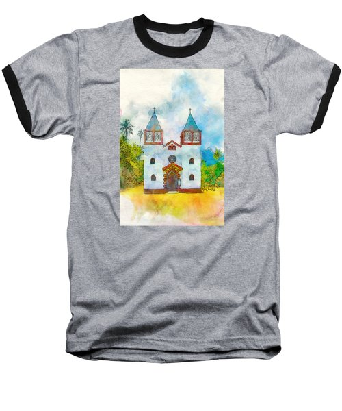 Church Of The Holy Family Baseball T-Shirt by Greg Collins