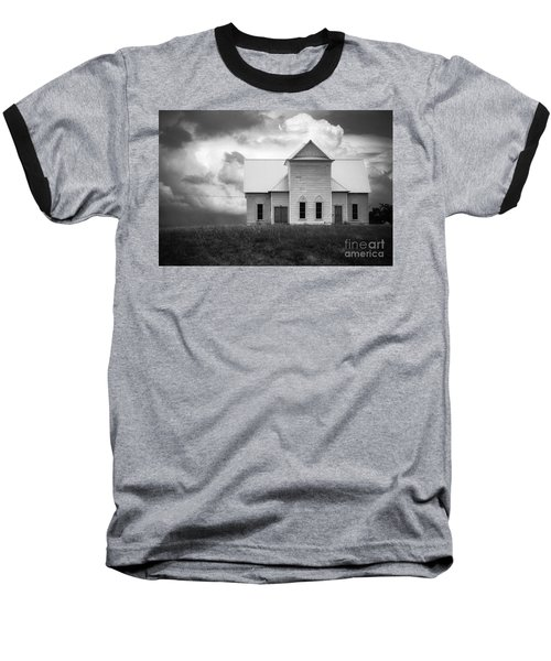 Church On Hill In Bw Baseball T-Shirt