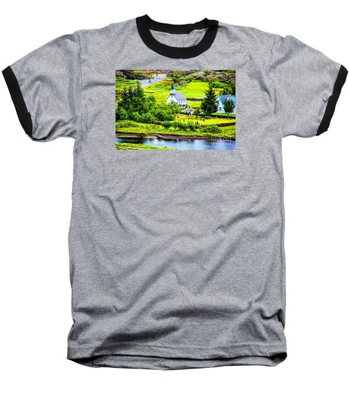 Baseball T-Shirt featuring the photograph Church On The Green by Rick Bragan