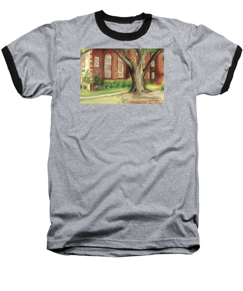 Baseball T-Shirt featuring the painting Church Tree by Denise Fulmer