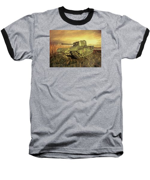 Churchill Tank Baseball T-Shirt by Roy McPeak